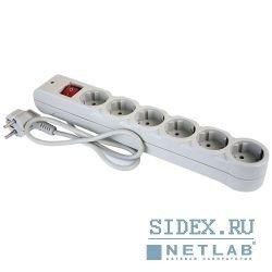 Сетевой фильтр Defender DFS-601 1.8м (6 розеток) (белый) - Сетевой фильтр