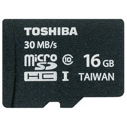 toshiba microsdhc 16gb class 10 (sd-c016uhs1(bl5a) + sd adapter)