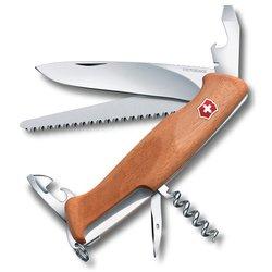 Нож перочинный Victorinox RangerWood 55 0.9561.63 130мм 10 функций деревянная рукоять - Victorinox