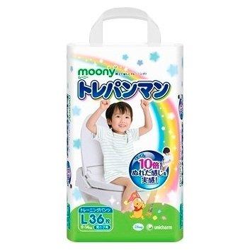 6385c40ddc61 РосТест - официальная гарантия производителя moony тренировочные трусики  для мальчиков l (9-14 кг) 36 шт.