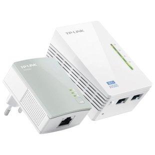 Wi-Fi+Powerline адаптер TP-LINK TL-WPA4220KIT (белый) - Wifi, Bluetooth адаптерОборудование Wi-Fi и Bluetooth<br>TP-Link TL-WPA4220KIT - комплект из 2-х адаптеров Powerline стандарта AV500 с функцией усилителя беспроводного сигнала до 300 Мбит/с. Поддержка протокола IGMP для групповой передачи данных по IP-сетям, оптимизация работы с цифровым телевидением (IPTV)