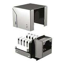 Иформационный модуль (Brand-Rex C6CJAKU012) (черный) - Розетка, выключатель, рамкаРозетки, выключатели и рамки<br>Информационный модуль RJ45 кат.6