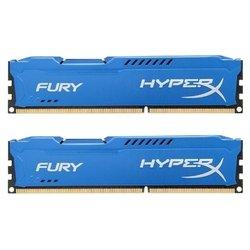 Память Kingston 16GB 1333MHz DDR3 CL9 DIMM HyperX FURY Blue Series (HX313C9FK2/16) - Память для компьютераМодули памяти<br>Kingston HX313C9FBK2/16 - 2 модуля памяти DDR3, объем модуля 8 Гб, форм-фактор DIMM, 240-контактный, частота 1333 МГц, радиатор для дополнительного охлаждения, CAS Latency (CL): 9.