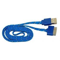 Кабель PALMEXX USB-Apple iPhone 4/ iPad 2 (синий-черный) - Кабели Красные Четаи аксессуары на монитор компьютера