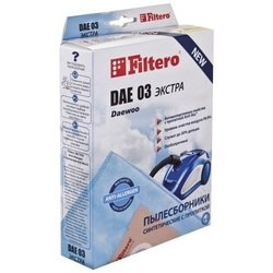 Пылесборник Filtero DAE 03 (4) Экстра - АксессуарАксессуары для пылесосов<br>Брэнд FILTERO, PatrNumber/Артикул Производителя DAE 03 (4) Экстра, Модель DAE 03 (4) Экстра, Тип товара Пылесборник, Срок гарантии (в месяцах) 12, Вес (кг) 0.16, Объем (м3) 0.00212