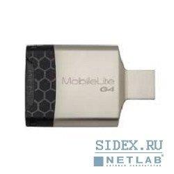 Картридер AII in 1 USB 3.0 Kingston (FCR-MLG4) (серебристо-черный) - Картридер, Card Reader