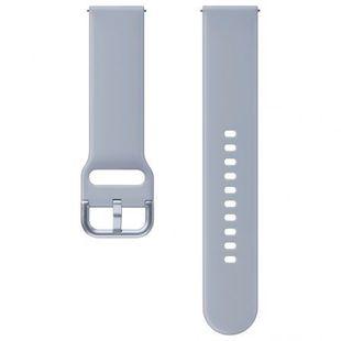 Ремешок для Samsung Galaxy Watch Active, Active 2 (ET-SFR82MSEGRU) (серебристый) - Ремешок для умных часов