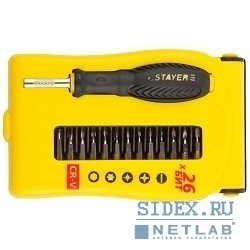 Набор отверток STAYER (MASTER 25614-H28) (28 шт) - ОтверткаОтвертки<br>Для выполнения прецизионных работ в электронике и электромеханике.