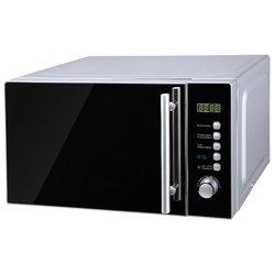 Midea AM820CMF (серебристый)  - МикроволновкаМикроволновые печи<br>Объем 20 л, отдельно стоящая, мощность 800 Вт, электронное управление, тактовое и кнопочное управление, дисплей.