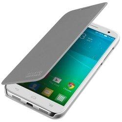 Чехол-книжка для Alcatel Idol 2s (FC6050 F-GCGB60Y0S10C1-A1) (серебристый) - Чехол для телефонаЧехлы для мобильных телефонов<br>Плотно облегает корпус и гарантирует надежную защиту от царапин и потертостей.