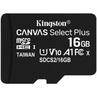 Kingston microSDHC Canvas Select Plus 16GB Class 10 UHS-I w/o adapter (SDCS2/16GBSP) - Карта флэш-памяти