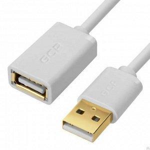 Кабель-удлинитель USB AM - AF 0.75м (Greenconnect GCR-UEC5M-AA-0.75m) (белый) - Кабели