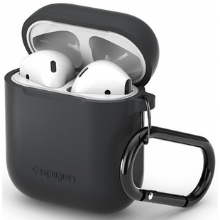 Чехол для Apple AirPods (Spigen Silicone Case 066CS24811) (Charcoal)