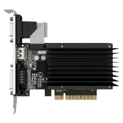 Palit GeForce GT 730 902Mhz PCI-E 2.0 2048Mb 1800Mhz 64 bit 2560x1600 DVI HDMI HDCP (NEAT7300HD46-2080H) RTL - ВидеокартаВидеокарты<br>Palit NEAT7300HD46-2080H - видеокарта NVIDIA GeForce GT 730, 2048 Мб видеопамяти GDDR3, частота ядра/памяти: 902/1804 МГц, разъемы DVI, HDMI, VGA, поддержка DirectX 12, OpenGL 4.4, пассивное охлаждение, работа с 3 мониторами.