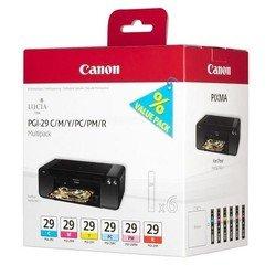 Набор картриджей для Canon PIXMA PRO-1 (4873B005 PGI-29 C/M/Y/PC/PM/R) (голубой, пурпурный, желтый, фото-голубой, фото-пурпурный, красный) - Картридж для принтера, МФУ