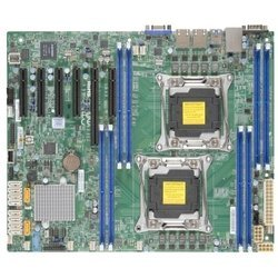 Supermicro X10DRL-i (Retail) - Материнская платаМатеринские платы<br>Материнская плата, Intel C612, 2xLGA2011-3, 8xDDR4 DIMM, 1xPCI-E x16, встроенный звук: нет, встроенная графика, Ethernet: 2x1000 Мбит/с, форм-фактор ATX, USB 3.0