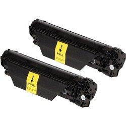 Тонер-картридж для HP LaserJet M1130 MFP, M1132 MFP, Pro M1130 MFP, M1132 MFP, M1132, M1132S, M1137, M1210, M1212 MFP, M1212NF MFP, M1214, M1214NFh, M1217, M1217NFW MFP, P1100, P1101, P1102, P1102S, P1102W, P1103 (Cactus CS-CE285AD) (черный) (2 шт) - Картридж для принтера, МФУ