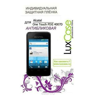 luxcase наклейка для alcatel one touch