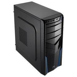 AeroCool V2X Blue Edition Blue - КорпусКорпуса<br>AeroCool V2X Blue Edition Blue - ATX, mATX, Mini-ITX, Midi-Tower, сталь, без блока питания, 3xUSB на лицевой панели, 175x410x405 мм, цвет: черный
