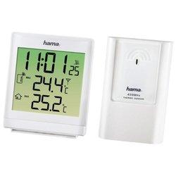 HAMA EWS-870 (H-113984) (белый) - Цифровая метеостанцияЦифровые метеостанции<br>HAMA EWS-870 - термометр, измерение температуры на улице, часы, питание: автономное