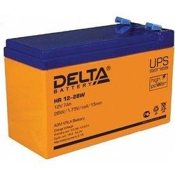 Delta HR 12-28W - Батарея для ибпАккумуляторные батареи<br>Напряжение 12В, емкость 7Ач, высокая энергоотдача, размеры ДхШхВ: 151х65х100 мм.