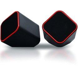 Мультимедийные стерео колонки SmartBuy CUTE (SBA-2590) (черно-оранжевый) - Колонка для компьютераКомпьютерная акустика<br>SmartBuy CUTE - акустическая стерео система 2.0, мощность 6 Вт, диапазон воспроизводимых частот 80 Гц-20 кГц, импеданс 4 Ом, чувствительность 65 дБ, питание от USB.