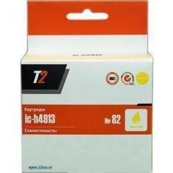 Картридж для HP Copier CC800PS, DesignJet 10ps, 120, 510, 800ps, 815MFP, 820MFP (T2 IC-H4913 №82) (желтый)  - Картридж для принтера, МФУ
