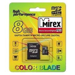 Mirex microSDHC Class 4 8GB + SD adapter - Карта флэш-памяти