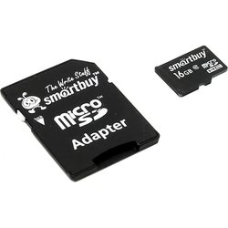 SmartBuy microSDHC Class 10 16GB + SD adapter - Карта флэш-памяти
