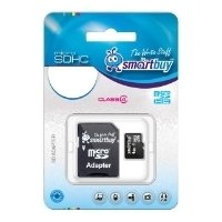 SmartBuy microSDHC Class 4 8GB + SD adapter - Карта флэш-памяти