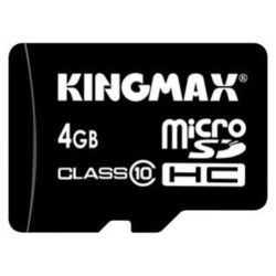 Kingmax microSDHC Class 10 Card 4GB + SD adapter