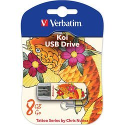 Verbatim 8Gb Store n Go Mini TATTOO EDITION KOI USB2.0 (белый)