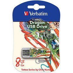 Verbatim 8Gb Store n Go Mini TATTOO EDITION DRAGON USB2.0 (белый)