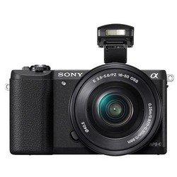 Фотоаппарат Sony Alpha A5100 Kit (ILCE5100LB.CEC) (черный) - Фотоаппарат цифровойЦифровые фотоаппараты<br>Фотоаппарат, 24.70 МП, размер матрицы: APS-C, оптический стабилизатор, SD, поддержка RAW, Wi-Fi, скорость съемки: 6 кадров/с, видео разрешением до 1920x1080