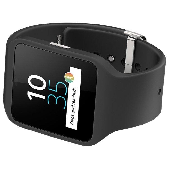 1e9c3736 Sony SmartWatch 3 SWR50 (черные часы с черным ремешком) - купить ...