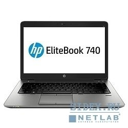 "hp elitebook 740 g1 j8q61ea 14""(1366x768 (матовый)), intel core i5 4210u(1.7ghz), 4096mb, 500gb, nodvd, int:intel hd4400, cam, bt, wifi, 3g, 50whr, war 1y, 1.78kg, silver, black metal, w7pro + w8pro key"