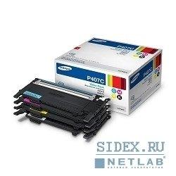 Комплект картриджей Samsung CLP-320, CLP-320N, CLX-3185N, CLX-3185FN (CLT-P407C) (желтый, голубой, пурпурный, черный)  - Картридж для принтера, МФУКартриджи<br>Совместим с моделями: Samsung CLP-320, CLP-320N, CLP-325, CLX-3185, CLX-3185N, CLX-3185FN.