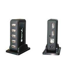 USB HUB Orient KE-700NP (черный) - USB HUBUSB-концентраторы<br>Orient KE-700NP - 7-ми портовый USB 2.0 концентратор с блоком питания, выполнен из пластика.