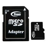 team group micro sdhc card class 6 32gb + sd adapter