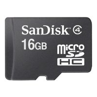 Sandisk microSDHC Card Class 4 16GB + SD adapter (SDSDQM-016G-B35A)