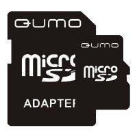 Qumo microSDHC class 4 8GB + SD adapter - Карта флэш-памяти