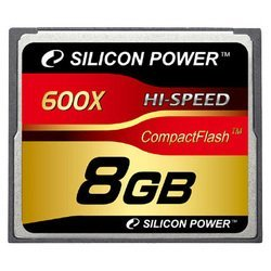 silicon power 600x professional compact flash card 8gb