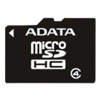 ADATA microSDHC Class 4 8GB (без адаптера) - Карта флэш-памяти