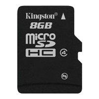 Kingston SDC4/8GBSP - Карта флэш-памятиКарты флэш-памяти<br>Kingston SDC4/8GBSP - карта памяти microSDHC, Class 4, объем 8 Гб
