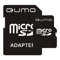 Qumo microSDHC class 6 8GB + SD adapter - Карта флэш-памятиКарты флэш-памяти<br>Qumo microSDHC class 6 8GB + SD adapter - карта памяти microSDHC, Class 6, объем 8 Гб, в комплекте адаптер на SD