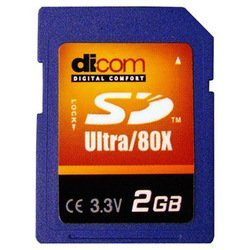 dicom secure digital ultra speed 80x 2gb