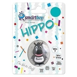 SmartBuy Wild Series Hippo 32GB - USB Flash driveUSB Flash drive<br>SmartBuy Wild Series Hippo 32GB - флэш-накопитель 32 Гб, интерфейс USB 2.0, скорость чтения: 20 Мб/с, водонепроницаемый корпус, материал корпуса: резина