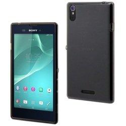 Чехол-накладка для Sony Xperia T3 (Muvit Dark Smoke Minigel Case SESKI0047) (полупрозрачный) - Чехол для телефонаЧехлы для мобильных телефонов<br>Плотно облегает корпус и гарантирует надежную защиту от царапин и потертостей.
