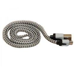 Кабель USB-microUSB PALMEXX (белый/черный) - КабелиUSB-, HDMI-кабели, переходники<br>PALMEXX - кабель с разъемами USB-microUSB, в переплете.