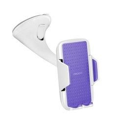 Универсальный автомобильный держатель для смартфонов 3.5-5.9 Crab Vogue (Deppa 55128) (белый) - Автомобильный держатель для телефонаАвтомобильные держатели для мобильных телефонов<br>Крепление смартфона на лобовое стекло или приборную панель автомобиля.